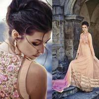 Pink Embroidered Work Anarkali Salwar Kameez