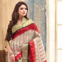 Tiptop Multi Color Tussar Silk Saree