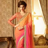Trendy Georgette Designer Saree