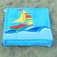 Filed Box Cushion/sail Boat
