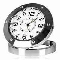 SPY HIDDEN CAMERA STEEL CLOCK