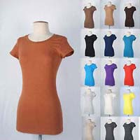 Ladies Plain Round Neck T-shirt