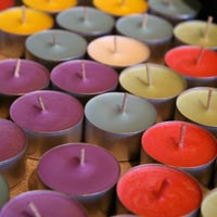 Beautiful English Color Tea Light Candles