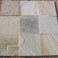 Indian Mint Fossil Sandstone Paving Slabs