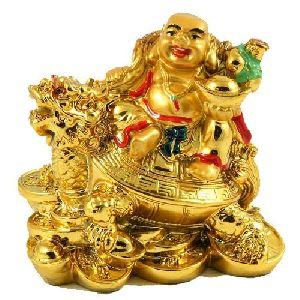 Laughing Buddha Sitting On Tortoise