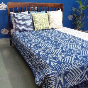 Blue Indigo Hand Block Printed Rugs
