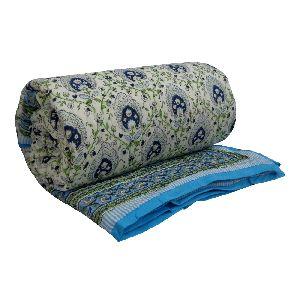 Jaipuri Razai Pan Leaf 100% Cotton Quilt