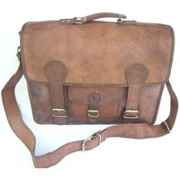 Goat Leather Office Bag with Handle