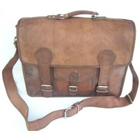 Vintage Goat Leather Laptop / Office Bag Paded