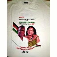 Ghana 1 - Election Photo Printed Tshirts