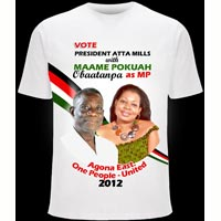 Ghana Fr - Election Photo Printed Tshirts