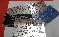 Steel Machine Name Plates