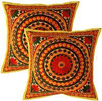 Handmade Embroidered Mirror Cushion Covers