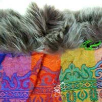 Boiled Wool Embroidered Shawls