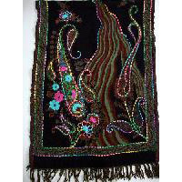 Boiled Wool Shawls With Hand Embroidery On Them