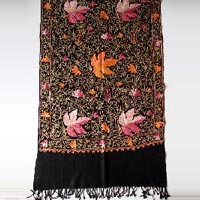 Kashmiri Embroidery On Pashmina Wool Shawls