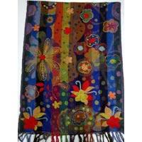 Modern Embroidery Shawls on Jacquard Wool