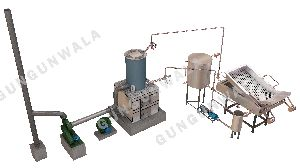 Semi Automatic Chips Frying Line With Wooden Boiler