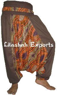 Cotton Ladies Trouser, Cotton Alibaba Pant, Garments Hindu Garments, Cotton Hand Embroidered Blouses, Cotton Hand Tie Dye Blouse - (260)