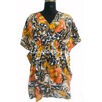 Cotton Printed Kaftan Dress Kaftan Manufactor  Exporters Ladies Wear Kaftan