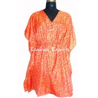 Silk Kaftan Dress Vintage Silk Sari Kaftan Dress Jypse..