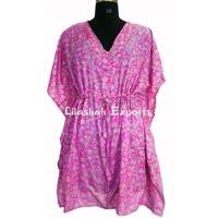 Vintage silk saree kaftan dresses