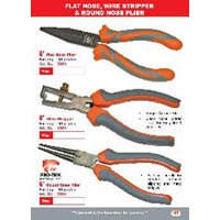 Flat Nose Wire Stripper And Round Nose Plier