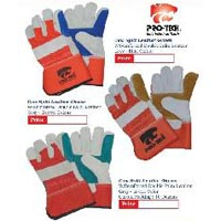Protech Brand Leather Gloves Double Palm