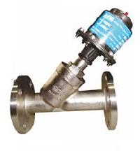 angle type y control valves