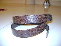 Semi casual leather belt