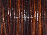 3mm Round Leather Tie-N-Die Finish Leather Cord