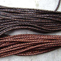 8.0mm 3 Flat Ply Leather Braided Cords