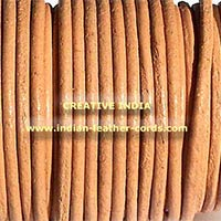 Round  Leather Cord Antique