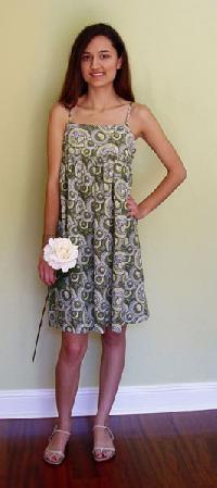 Printed Cotton One Piece Dress