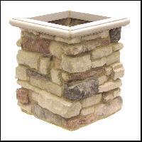 granite stone flower pots