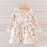Half Sleeve Embroidered Kids Gowns