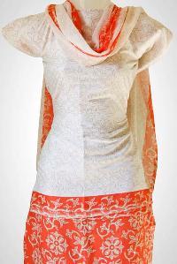 Unstitched Silk Salwar Kameez