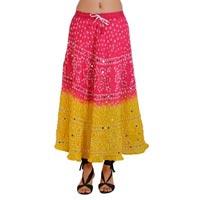 Boho Hippie Gypsy Tie Dye Bandhej Skirt
