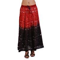 Ethnic Style Sequins Work Bandhej Skirt