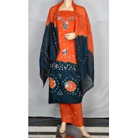 Exclusive Bandhej Cotton Salwar Suit Kameez