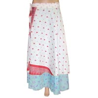 Indian Ladies Two Layer Long Sarong Silk Wrap Skirt 2014