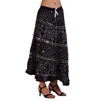 Indian Traditional Bandhej Skirt