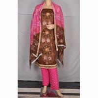 Partywear Bandhej Cotton Salwar Kameez