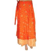 Vintage Silk Magic Wrap Skirt