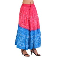 Cotton Bandhej Skirt