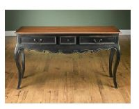 Console 3 Drawers Wood Top Table