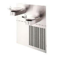 Bi-Level wall recessed drinking water fountain