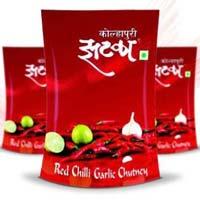 Red Chilli Garlic Chutney (Kolhapuri Zataka)