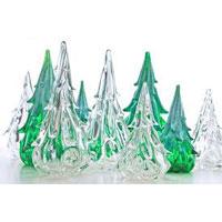 glass christmas tree - Glass Christmas Trees