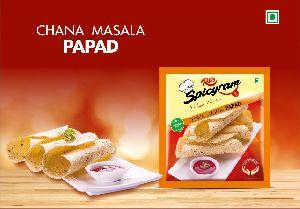 Chana Masala Papad